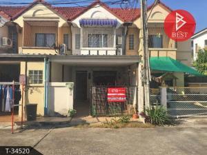 For SaleTownhousePattaya, Bangsaen, Chonburi : ขายทาวน์เฮ้าส์ 2 ชั้น หมู่บ้านงามเจริญ 2 บางละมุง ชลบุรี