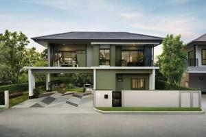 For SaleHouseSamrong, Samut Prakan : LBH0209 2 storey detached house for sale, resort style, Burasiri village. Ring-On Nut