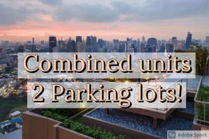 "For SaleCondoSukhumvit, Asoke, Thonglor : Oka Haus 🔥BIGGEST SIZE 70sq.m.🔥 ""Combined Unit"" ได้สิทธิจอดรถ 2 สิทธิ  LAST UNIT!! 9.59MB🔥  Tel/Line: 094-162-4424"