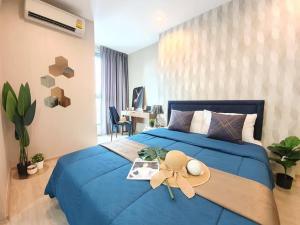 เช่าคอนโดสยาม จุฬา สามย่าน : Ideo Q Chula Samyan 🍁 ห้องแต่งสวยมากกก 🍁 ค่าเช่า 17000 บาท ลากกระเป๋าเข้าอยู่ได้เลย