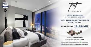 For SaleCondoSathorn, Narathiwat : TAIT Sathorn 12- Luxury 2-Bedrooms in the heart of Sathorn