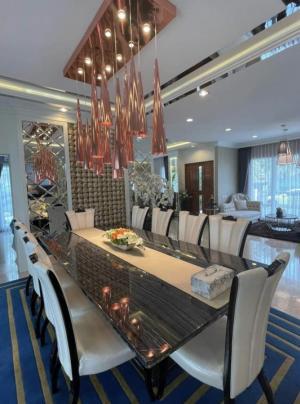For RentHousePattanakan, Srinakarin : Rental : Luxury House with Full Furnisher in Krunthep Kreta - Rama 9 , 3 Floors , 5 Bed 7 Bath , 441 Sqm , 105 sqw , 4 Parking lot * no pet allowed 🔥🔥Rental Price: 200,000 THB / Month 🔥🔥🔥🔥Selling Price : 45,000,000 THB 🔥🔥