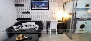 For RentCondoRama9, RCA, Petchaburi : RENT !! Condo Aspire, MRT Rama 9, 1 Bed, Bl. A, Fl. 2, Area 32 sq.m., Rent 10,000 Baht