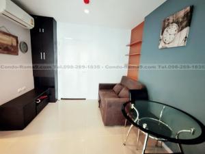 For RentCondoRama9, RCA, Petchaburi : RENT !! Condo Aspire, MRT Rama 9, 1 Bed, Bl. A, Fl. 18, Area 32 sq.m., Rent 12,000 Baht