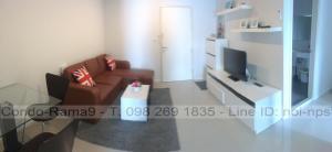 ขายคอนโดพระราม 9 เพชรบุรีตัดใหม่ : Condo Aspire, MRT Rama 9, 1 Bed, Tower B, Fl. 15, Area 39 sq.m., Sale 3.9MB. Rent 14,000.-