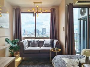 For SaleCondoRama9, RCA, Petchaburi : W0678 For sale, Casa Condo Asoke - Din Daeng, Studio room 1 bathroom, Room size 26 sq.m. , 20th floor, Baiyoke Tower view, Newly decorated, Fully furnished
