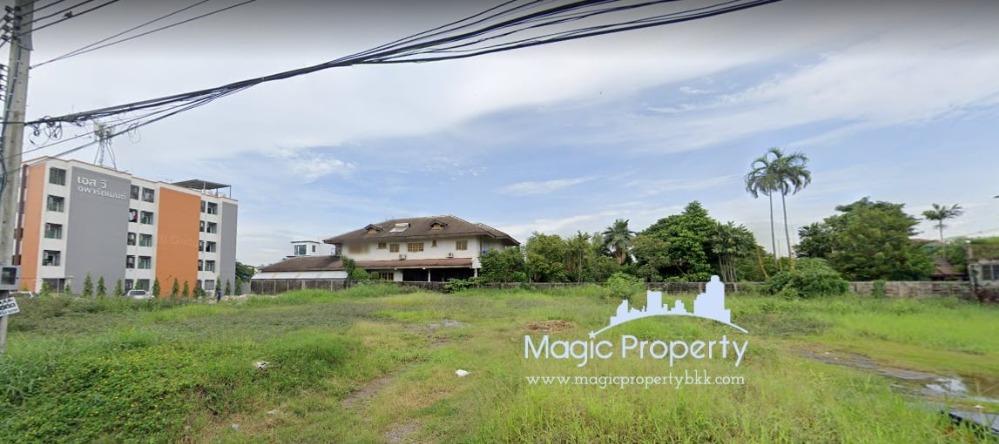For SaleLandLadprao101, Happy Land, The Mall Bang Kapi : Land for sale 203 sq.wa. in Kaset-Nawamin, Chorakhe Bua Subdistrict, Lat Phrao District, Bangkok.
