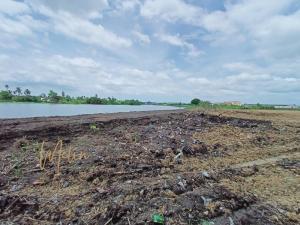 For SaleLandNakhon Pathom, Phutthamonthon, Salaya : beautiful plot of land for sale Land in Sampran, Nakhon Pathom, on the Nakhon Chai Si River
