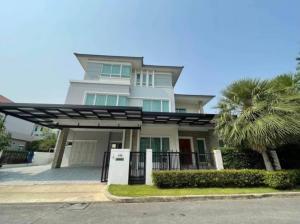 เช่าบ้านพัฒนาการ ศรีนครินทร์ : Rental : Luxury House with Full Furnisher in Krunthep Kreta - Rama 9 , 3 Floors , 5 Bed 7 Bath , 441 Sqm , 105 sqw , 4 Parking lot * no pet allowed