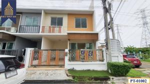 For SaleTownhouseSamrong, Samut Prakan : ทาวน์เฮ้าส์ เดอะ คัลเลอร์พรีเมี่ยม บางนา กม.8 บ้านหลังมุม ตกแต่งใหม่