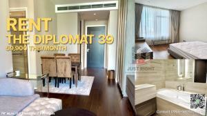 For RentCondoSukhumvit, Asoke, Thonglor : ให้เช่าราคาพิเศษ The Diplomat 39 2นอน2น้ำ 76 *ตร.ม. ห้องใหม่ ตกแต่งครบ วิวเมือง ราคาพิเศษ 59,900/ด. สญ.1ปี
