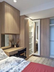 For RentCondoRama9, RCA, Petchaburi : ID042_P 💖Ideo Mobi Asoke💖 **Beautiful room, fully furnished, ready to move in**