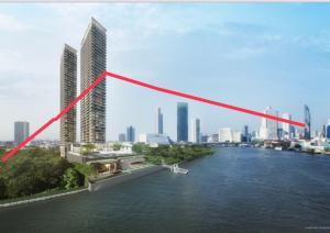 For SaleCondoWongwianyai, Charoennakor : 3 BR River Front on the high floor ❤️