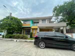 For RentHouseRamkhamhaeng,Min Buri, Romklao : ให้เช่าบ้านเดี่ยวแปรงหัวมุม 60 ตรว. เทรนดี้ธารา รามคำแหงใกล้วงแหวน กรุงเทพกรีฑา (3นอน 2น้ำ จอดรถได้3-4คัน