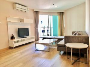 เช่าคอนโดพระราม 9 เพชรบุรีตัดใหม่ : FOR RENT ONLY 25,000/month, Type 2 bed 1 bath 24th floor at building D, plz contact to visit