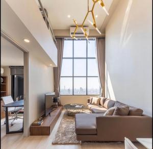 For RentCondoSathorn, Narathiwat : Knightsbridge Prime Sathorn for rent Duplex 1 bedroom 44 sq.m. fl.33 City view Fully furnished, Ready move in near BTS Chongnonsri