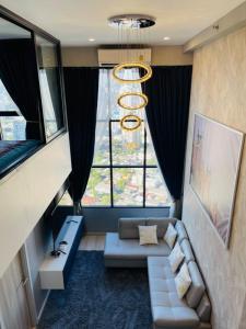 For RentCondoSathorn, Narathiwat : Knightsbridge Prime Sathorn for rent Duplex 1 bedroom 45 sq.m. fl.41 City view Fully furnished, Ready move in near BTS Chongnonsri