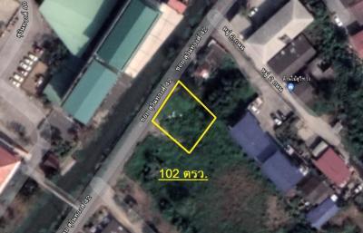 For SaleLandRamkhamhaeng,Min Buri, Romklao : ขายที่ดินเปล่า 102 ตรว.ซอยสุวินทวงศ์ 42 เขตหนองจอก