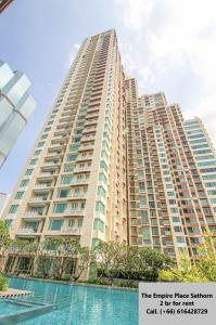 For RentCondoSathorn, Narathiwat : For Rent – The Empire Place Sathorn, 2 bedrooms 2 bathrooms, size 99 sqm., Floor 10+, city view, ready to move in.