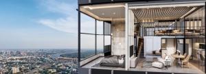 ขายดาวน์คอนโดคลองเตย กล้วยน้ำไท : KnightBridge space สุขุมวิท – พระราม 4  2 Bedroom LOFT Suite House Plan