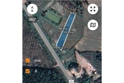 ขายที่ดินเชียงราย : Land for sale 1-0-08 rai, good location, next to 4 lane road, route 1021 Thoeng-Chiang Kham. - 920141014-52