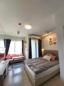 For RentCondoRatchadapisek, Huaikwang, Suttisan : B432-B252 Condo for rent, Chapter One, Eco Ratchada-Huay Kwang, size 23 sq.m., 23rd floor, studio type, rim room, private.