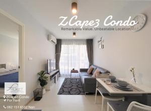 For RentCondoPhuket, Patong : Zcape 3 Condominium (Minimal Interior) for rent