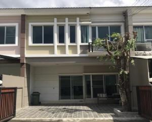 For RentTownhouseBangbuathong, Sainoi : Townhome for rent, 2 floors, Vista 180 Village, Ratchavipha, Phibun Songkhram Road, beautiful house, fully furnished, 4 air conditioners
