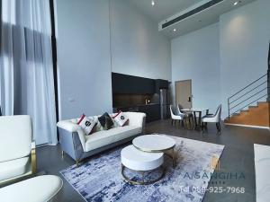 เช่าคอนโดสีลม ศาลาแดง บางรัก : ADASH-061 For rent The lofts Silom 2 Bedroom Duplex 110Sqm. 85K