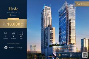 For RentCondoNana, North Nana,Sukhumvit13, Soi Nana : 📍 Very cheap for rent, Hyde Sukhumvit 13, size 42 Sq.m., rent only 18,000 baht/month 🔥