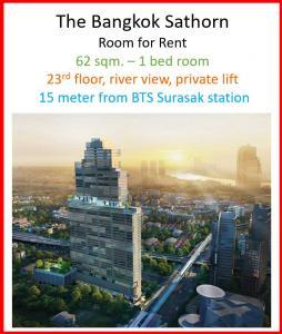 For RentCondoSathorn, Narathiwat : The Bangkok Sathorn 1bedroom for rent