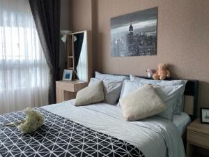 เช่าคอนโดลาดพร้าว101 แฮปปี้แลนด์ : Y15170221 ให้เช่า/For Rent Condo Aspire Ladprao 113 (แอสปาย ลาดพร้าว 113) 1นอน 29ตร.ม ห้องสวย เฟอร์ครบ พร้อมอยู่