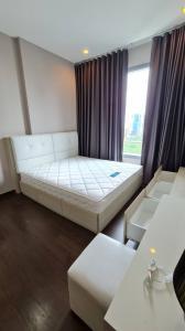 For RentCondoRama9, RCA, Petchaburi : For rent, Q Asoke (Q Asoke), 1 bedroom, high floor, clean room, wide balcony, near MRT Phetchaburi, BTS Asoke, Airport Link, Makkasan. Fully furnished + electric ready