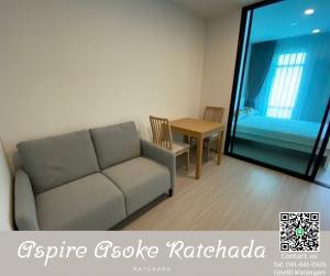 For RentCondoRatchadapisek, Huaikwang, Suttisan : 📢Ready For Rent📢 Newly Fully Furnished at Aspire Asoke Ratchada Condo 🏢