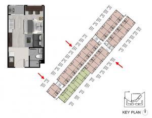 ขายคอนโดรังสิต ธรรมศาสตร์ ปทุม : ขายด่วน เท่าทุน ดีคอนโด ไฮด์อเวย์-รังสิต 26 ตร.ม ห้องมุม วิวสวน อาคาร C เฟอร์ครบ มีห้องการันตีค่าเช่าให้ 3 ปี