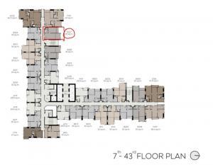 ขายดาวน์คอนโดลาดพร้าว เซ็นทรัลลาดพร้าว : ขาย 1 ห้องนอน 35 ตรม. ชั้นสูง ราคาดีมากๆ เจ้าของขายเอง