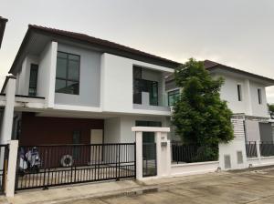For RentHouseBangna, Bearing, Lasalle : House for rent, 2 floors, easy to travel, near the expressway, Aura University, Ramkhamhaeng 94