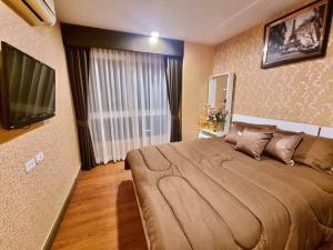 For RentCondoRatchadapisek, Huaikwang, Suttisan : For rent, Diamond Ratchada, 2 bedrooms, beautiful number room, 20th floor, well-selected furniture, near Huai Khwang MRT
