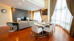 For RentCondoSukhumvit, Asoke, Thonglor : Bright Sukhumvit 24 spacious & luxury duplex penthouse high floor for rent