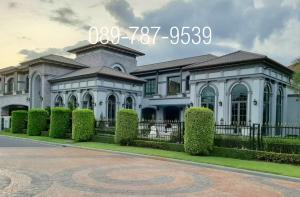 For SaleHouseNakhon Pathom, Phutthamonthon, Salaya : Luxury mansion for sale , The Grand Pinklao , the corner unit , private swimming pool