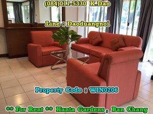 เช่าบ้านระยอง : Rental Fee 20,000 Baht For Rent Kanta Gardens, Ban Chang