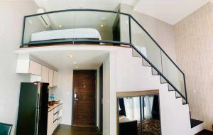 For RentCondoSukhumvit, Asoke, Thonglor : Room for Rent! Condo C Ekkamai, beautiful room, 40th floor, good view, cheap rent