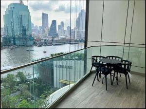เช่าคอนโดวงเวียนใหญ่ เจริญนคร : B282 Best price!! Magnolias waterfront residences 2 bedrooms 103 sqm. River view.