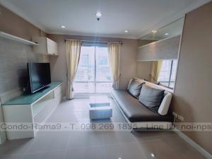 For RentCondoRama9, RCA, Petchaburi : RENT !! Condo Lumpini Place, MRT Rama 9, 2 Bed, B Bl., 16 Fl., Area 71 sq.m., Rent 20,000 .-