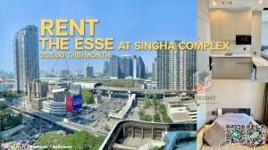 For RentCondoRama9, RCA, Petchaburi : For rent The Esse at Singha Complex 1bedrooms, 1bathroom, 36 sqm. / only 26,500m.