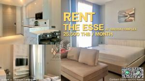 For RentCondoRama9, RCA, Petchaburi : For rent The Esse at Singha Complex 1bedrooms, 1bathroom, 36 sqm. / only 25,500m.