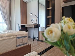 เช่าคอนโดรังสิต ธรรมศาสตร์ ปทุม : [ให้เช่า] คอนโด Kave Town Space คอนโดที่ใกล้ ม. กรุงเทพ รังสิต 1 Bedroom 1ห้องนอน 1ห้องน้ำ ขนาด (24.5 ตร.ม.) ชั้น 7