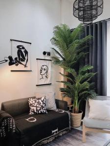 เช่าคอนโดอ่อนนุช อุดมสุข : 😍 ห้องสวย The Line Sukhumvit 101  ขนาด 28 ตร.ม ราคาเช่า 13,000 บาท/เดือน