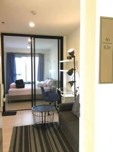 For RentCondoRama9, Petchburi, RCA : For rent! Life Asoke, high floor, great view, fully furnished, you can move in.
