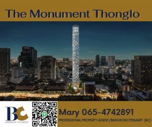 ขายคอนโดสุขุมวิท อโศก ทองหล่อ : The Monument Thong lo ⭐For Sell⭐ 2 bedrooms / 127 Sqm. / 27.xx ล้าน 【065-4742891】** มีให้เลือกหลายห้อง
